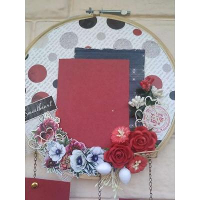 The Pink Umbrella  Love Themed Memory Catcher  pink umbrella hitchki creative handmade gifts 02 0037