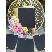 Black and Gold Floral Memory Catcher - The Pink Umbrella