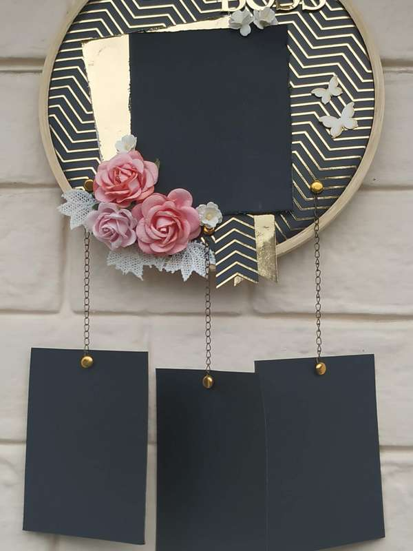 Black and Gold Memory Catcher  The Pink Umbrella  pink umbrella hitchki creative handmade gifts 10 0009