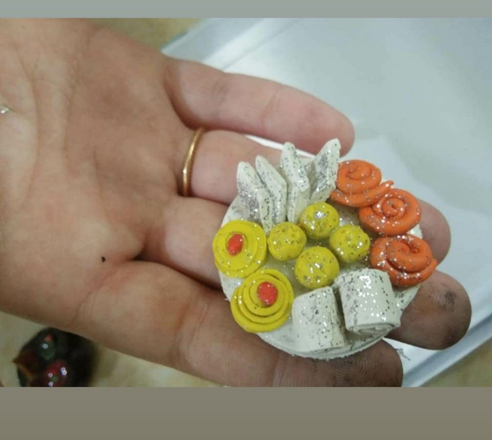 Handmade Customized Food Rakhi for Sweet Brother  food rakhi