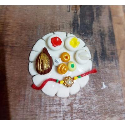 Handmade Customized Pooja Thali Rakhi  Best Rakhi Thali