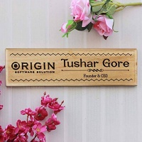 wood name plate